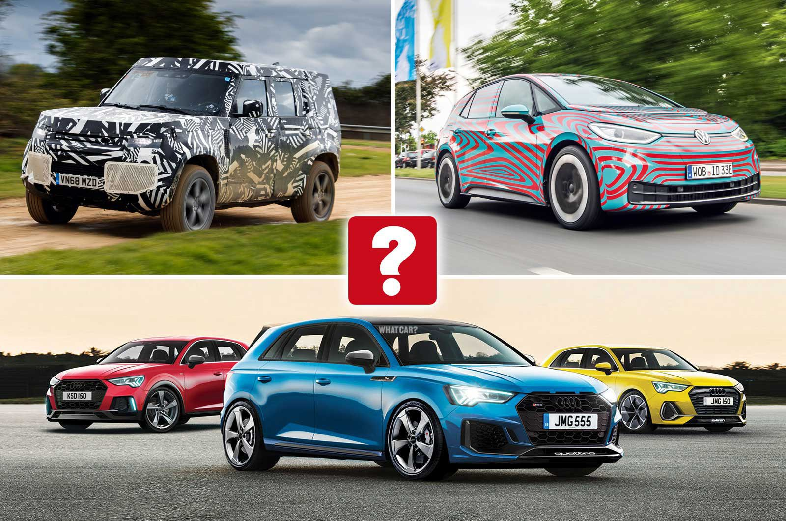 New VW ID 3, Audi A3 and Land Rover Defender