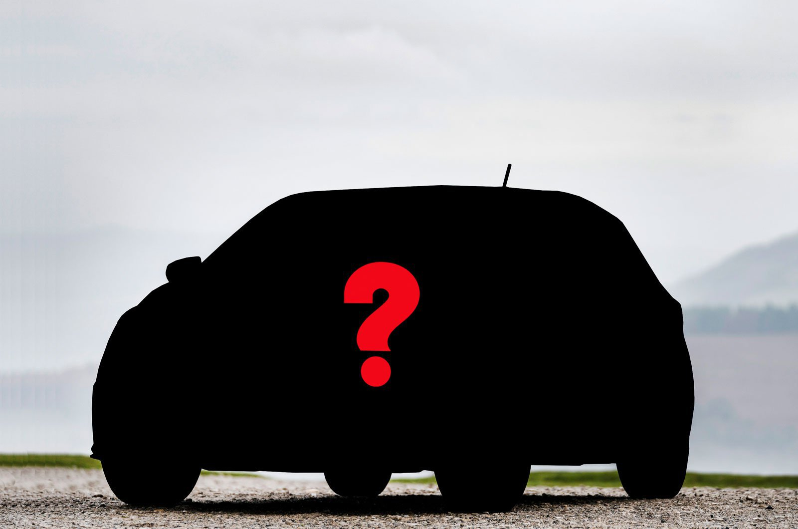 Small car silhouette