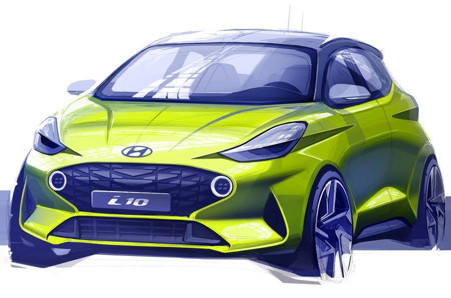 Hyundai i10 concept sketch