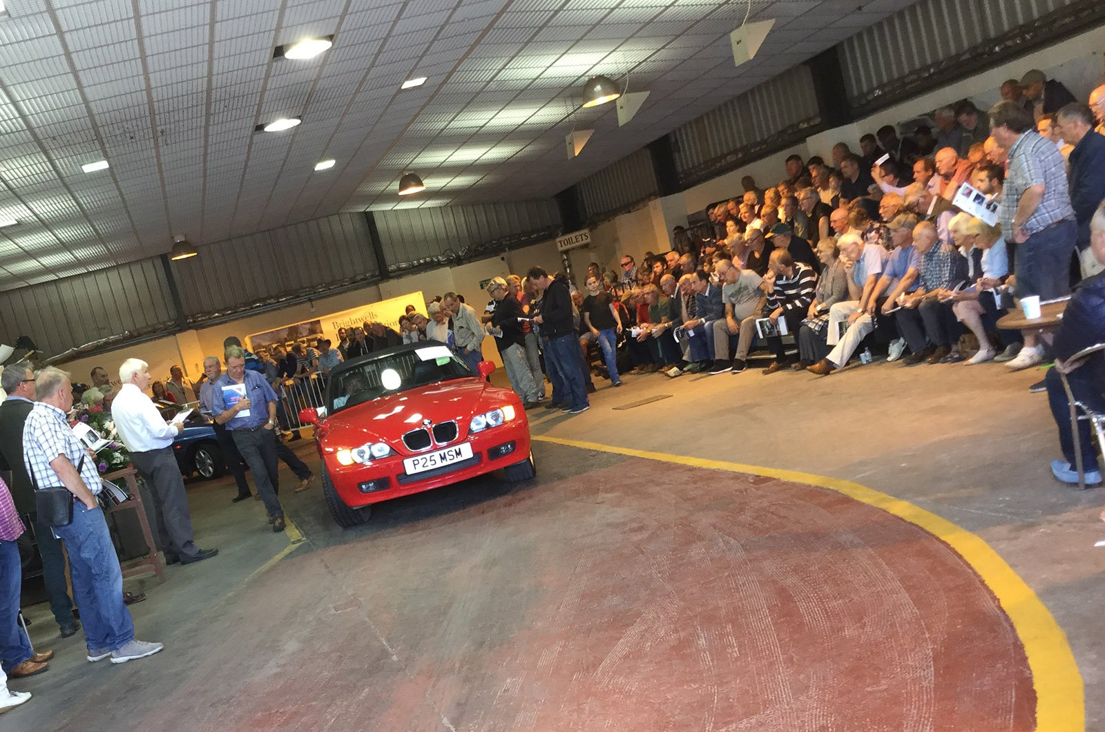 Red BMW Z3 being auctioned off