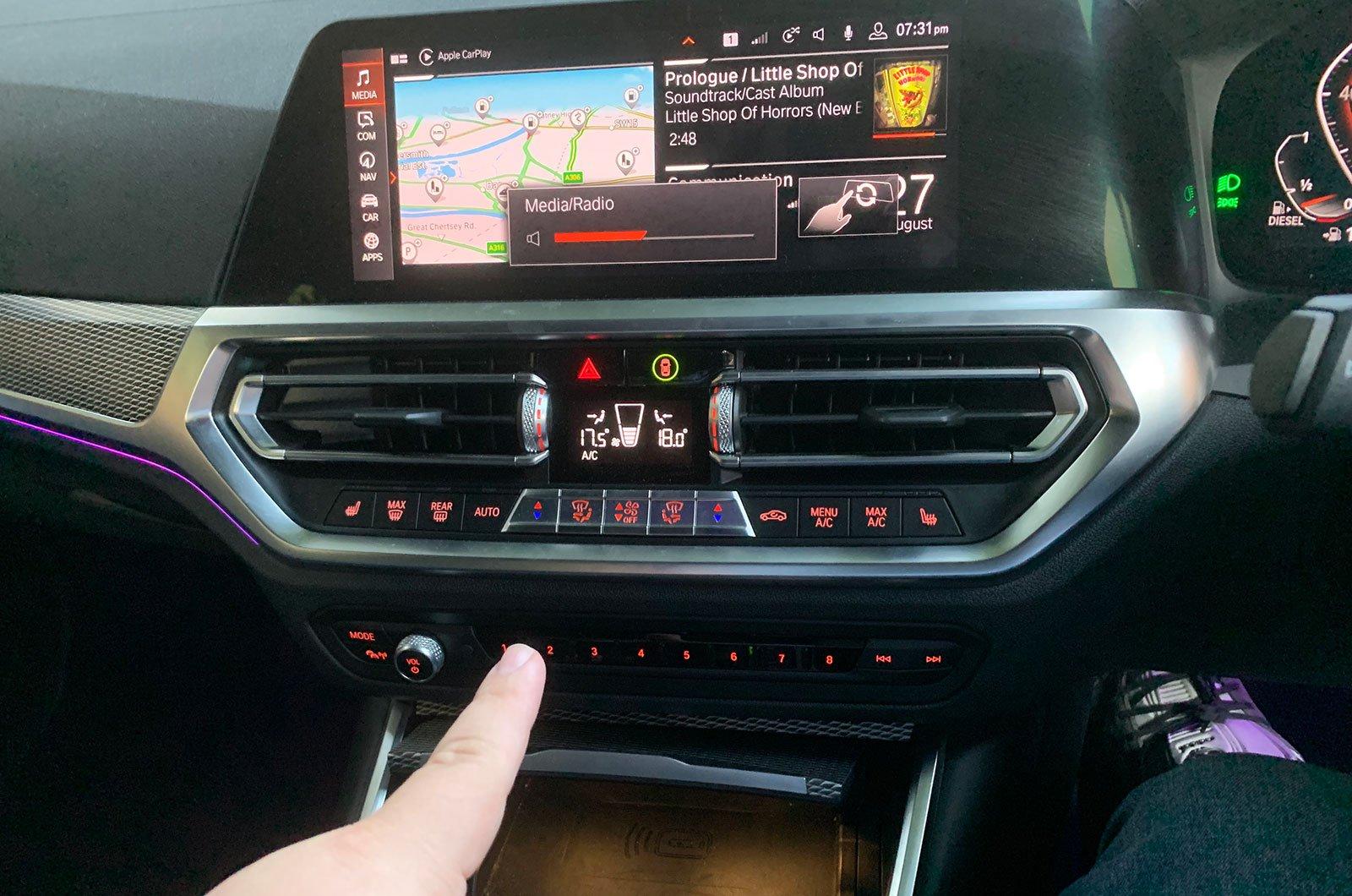 BMW 3 Series gesture control