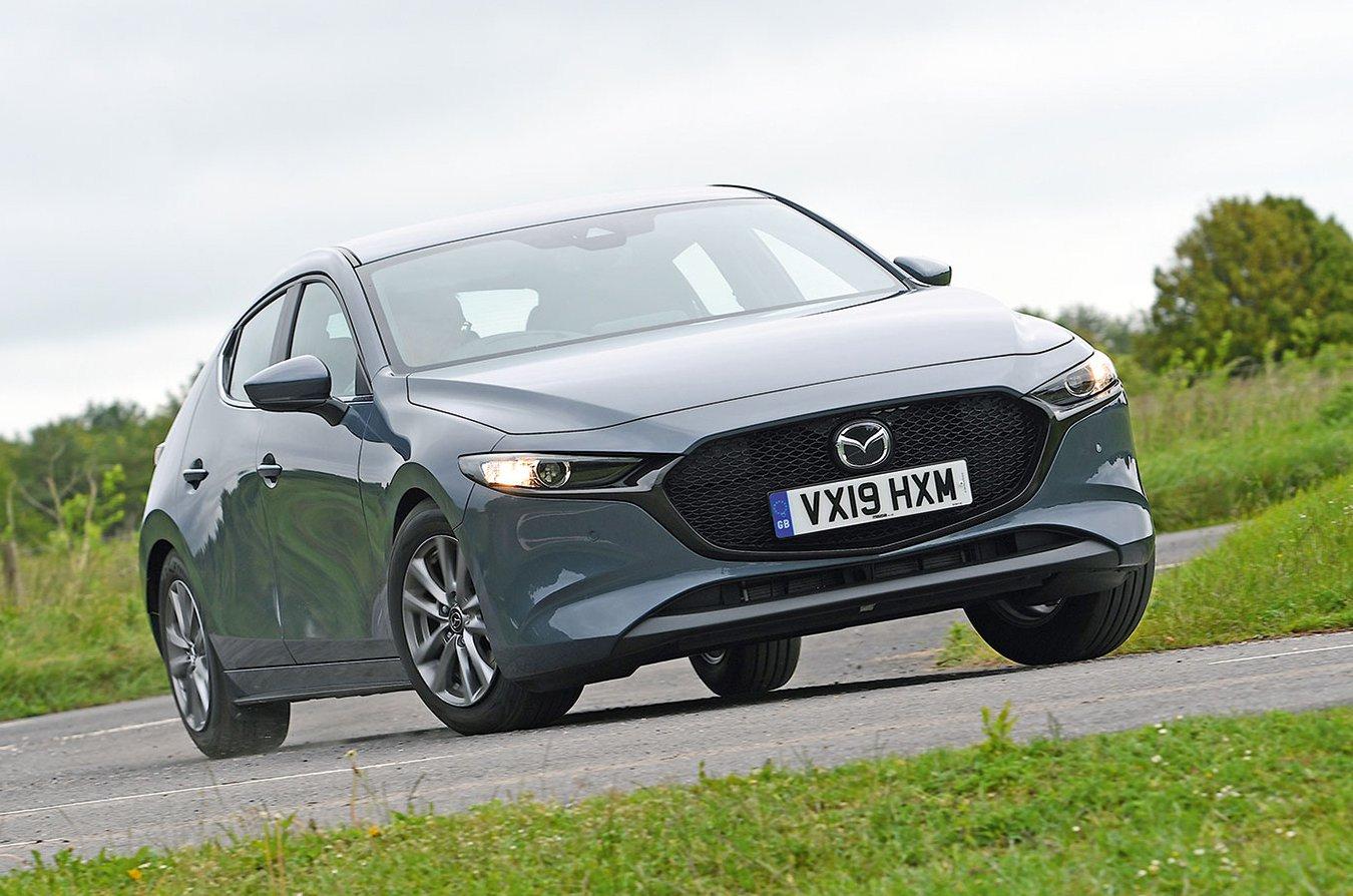Mazda 3 driving