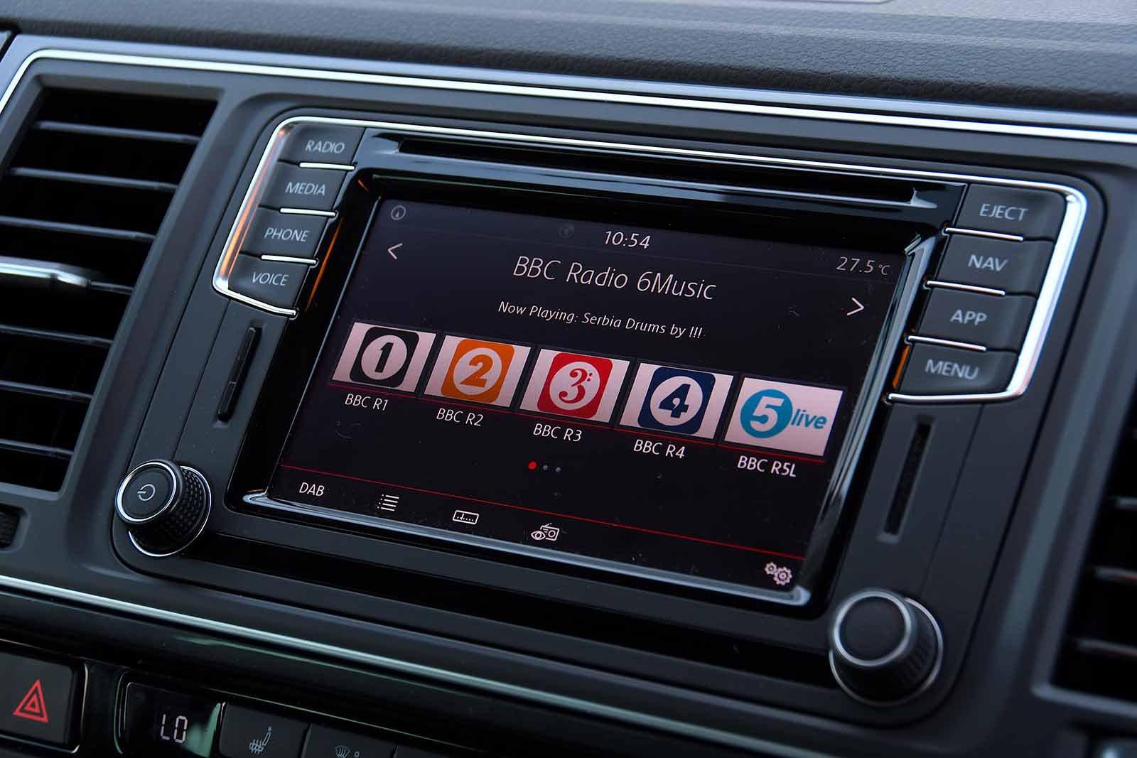 Volkswagen California 2019 RHD infotainment