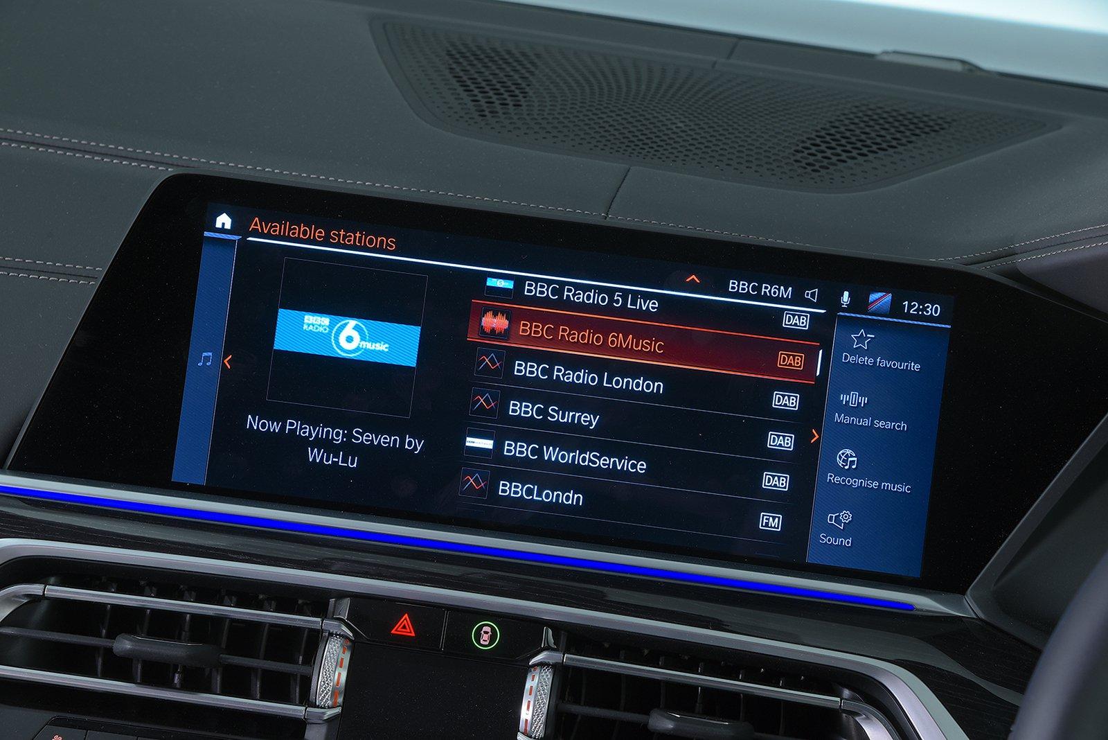 BMW X7 infotainment