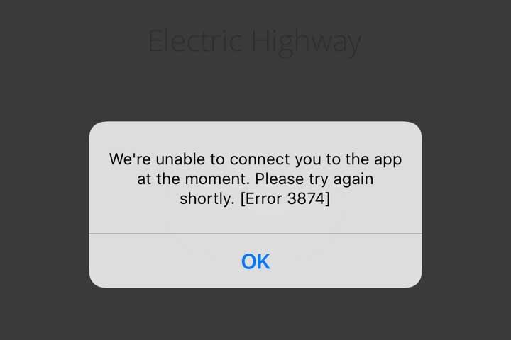 Ecotricity app failure