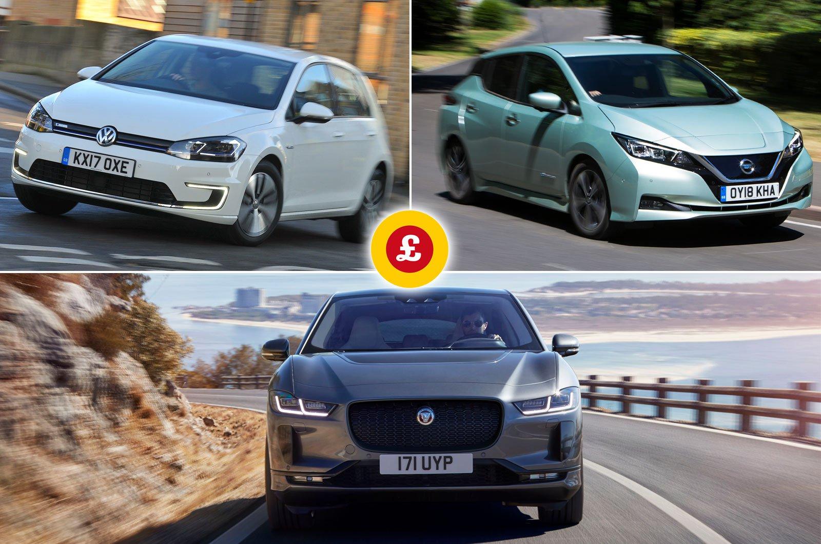 Jaguar I-Pace, Volkswagen e-Golf, Nissan Leaf