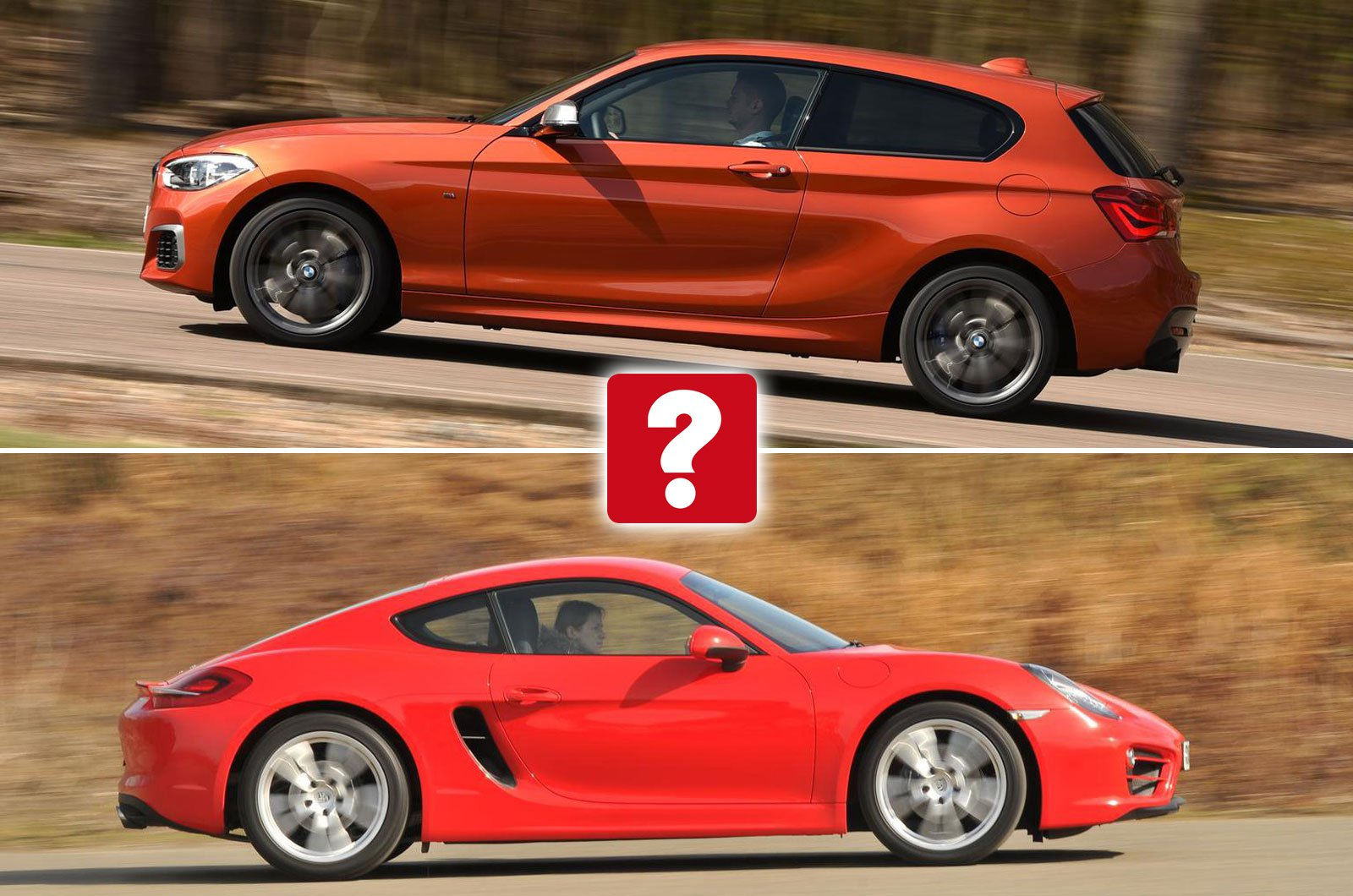 BMW M135i vs Porsche Cayman