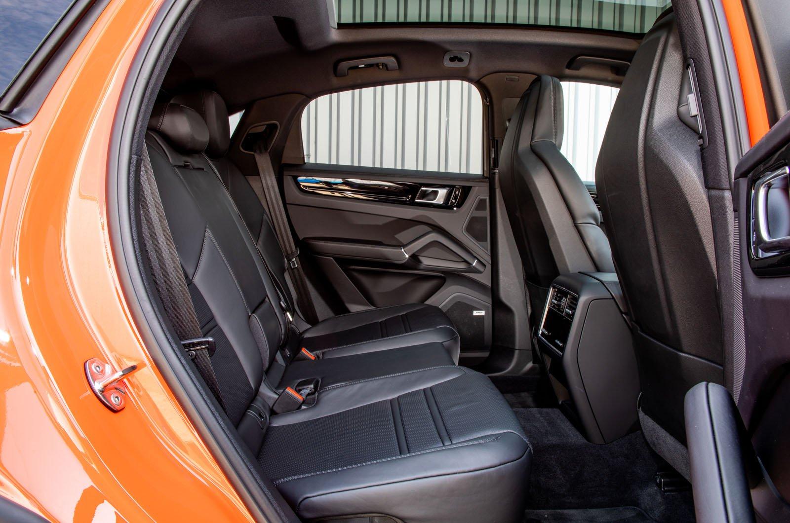 Porsche Cayenne Coupe rear seats