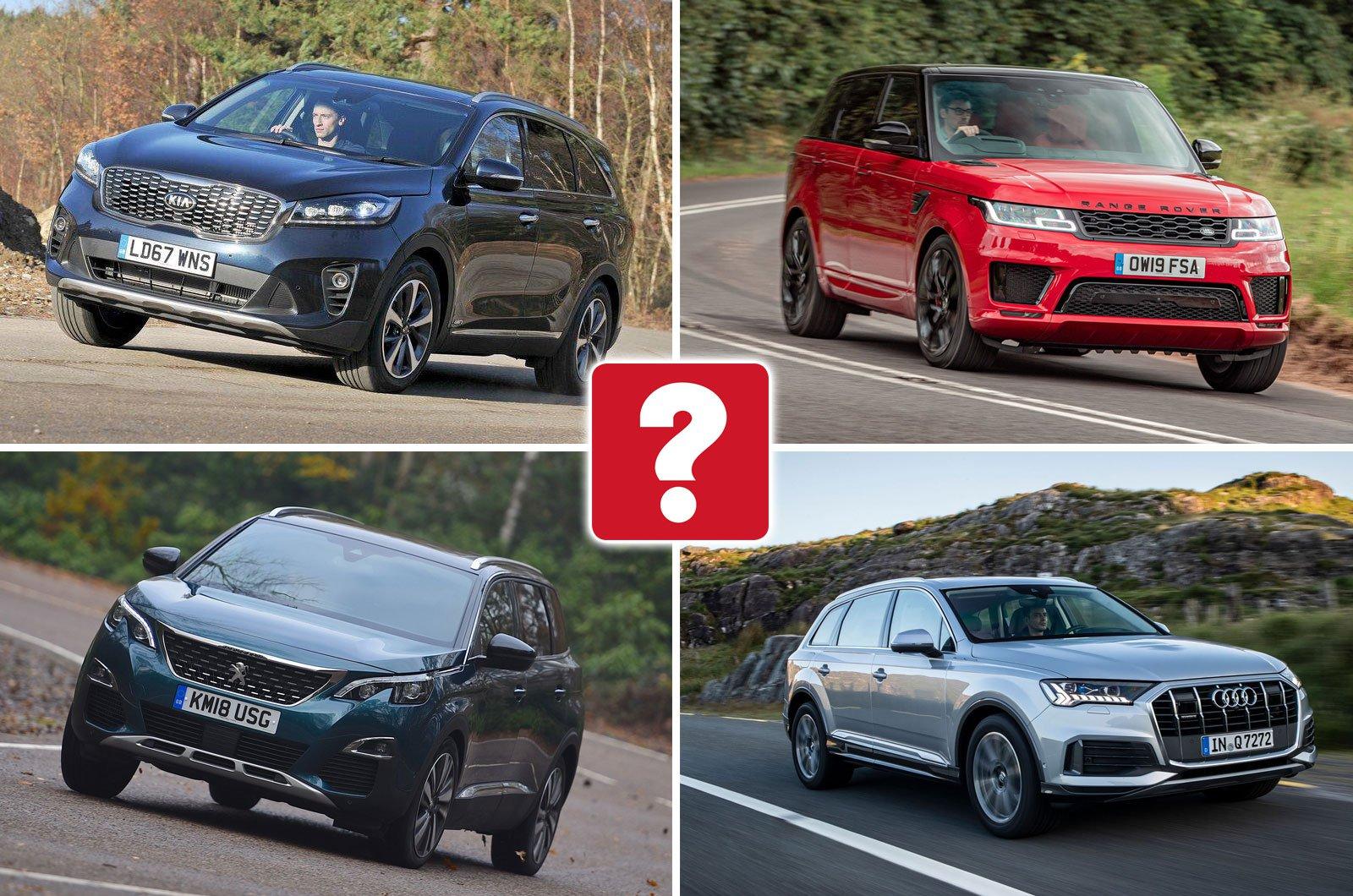 Kia Sorento, Range Rover Sport, Peugeot 5008, Audi Q7