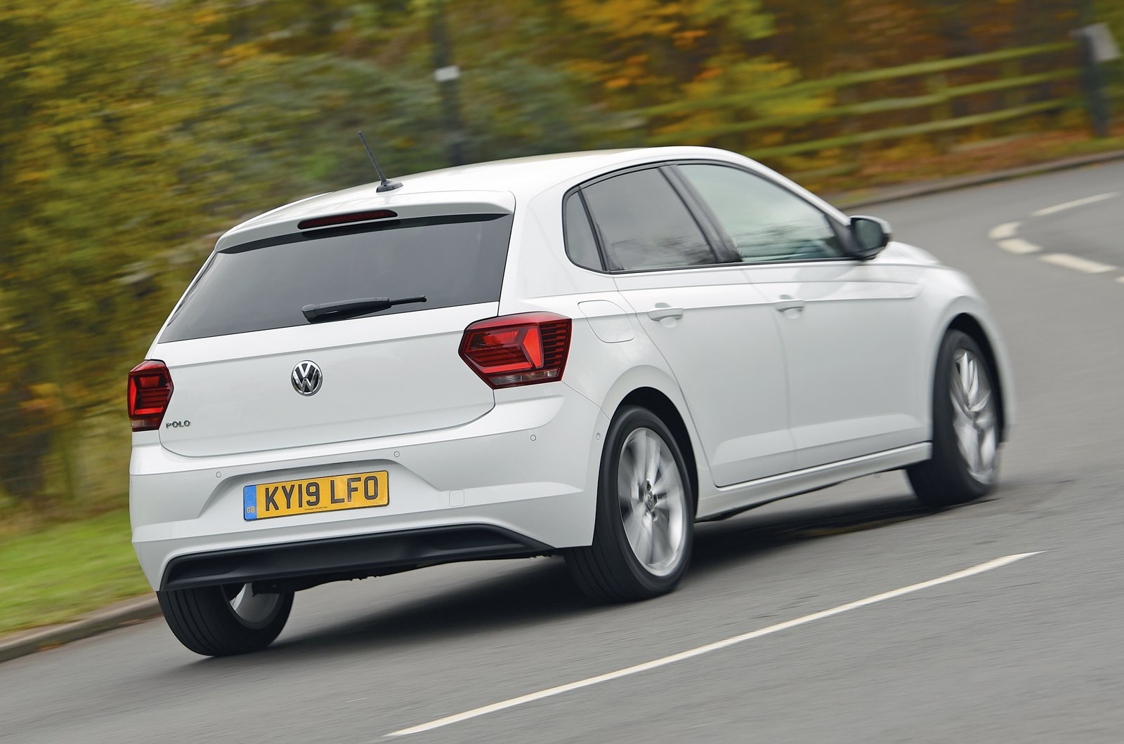 Volkswagen Polo rear - 19 plate