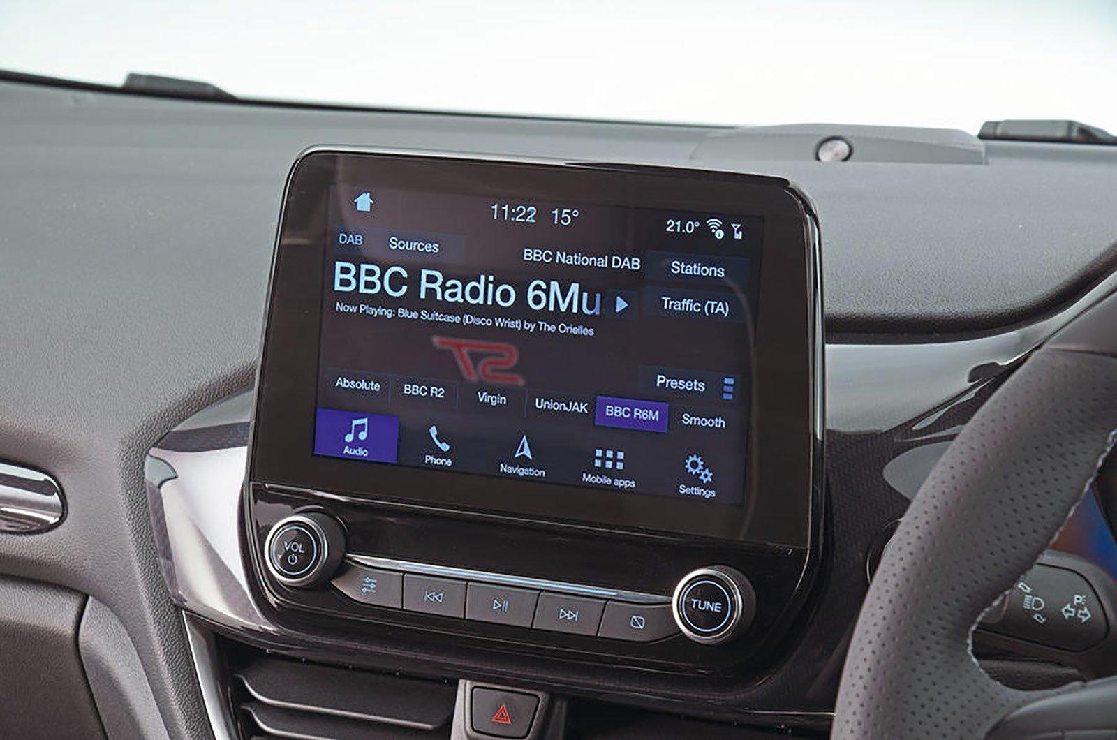 Ford Fiesta ST infotainment system