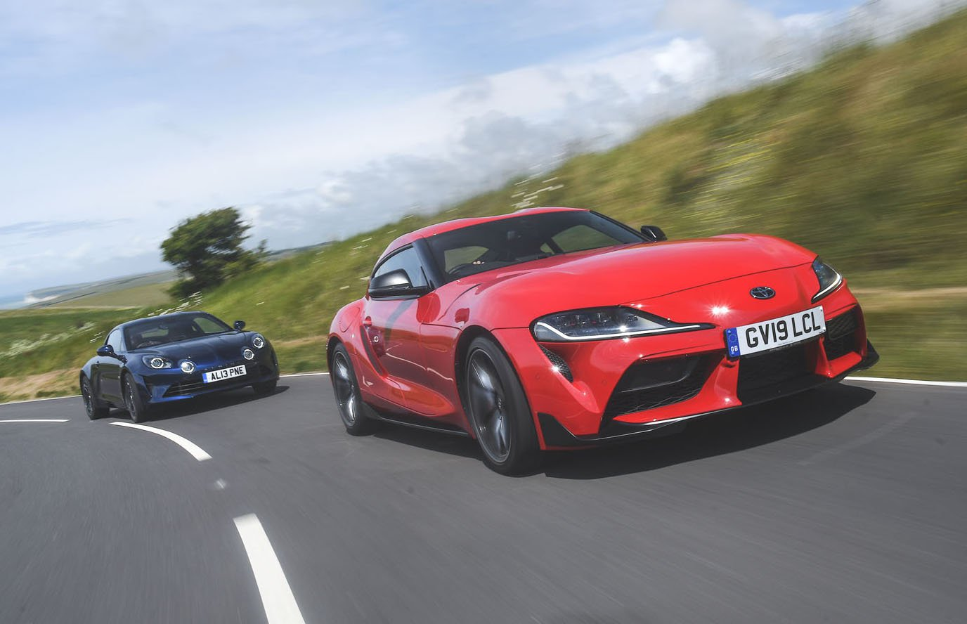 New Toyota GR Supra vs Alpine A110