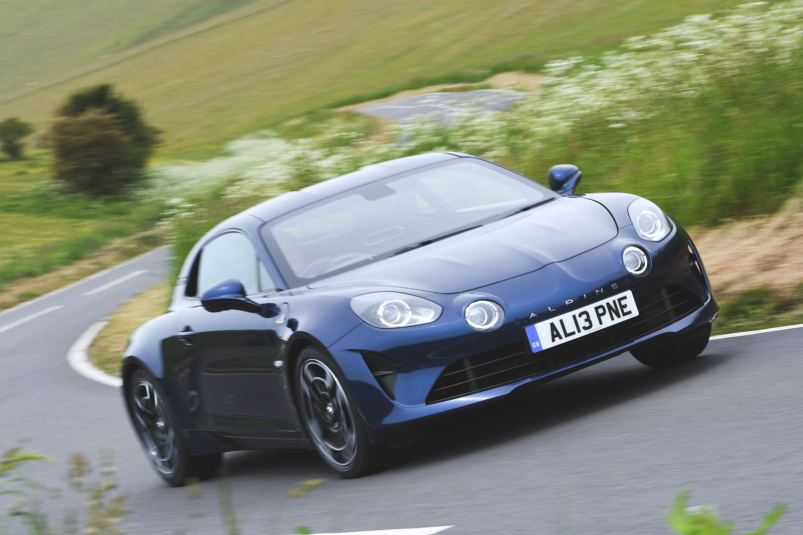 Alpine A110 driving