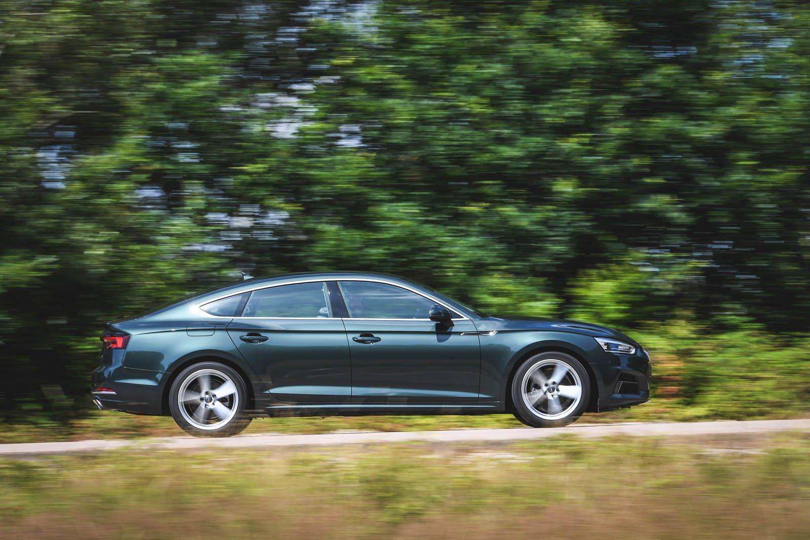 Audi A5 driving