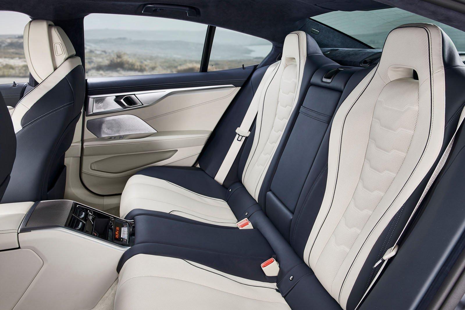 8 Series Gran Coupé 2019 LHD rear seats