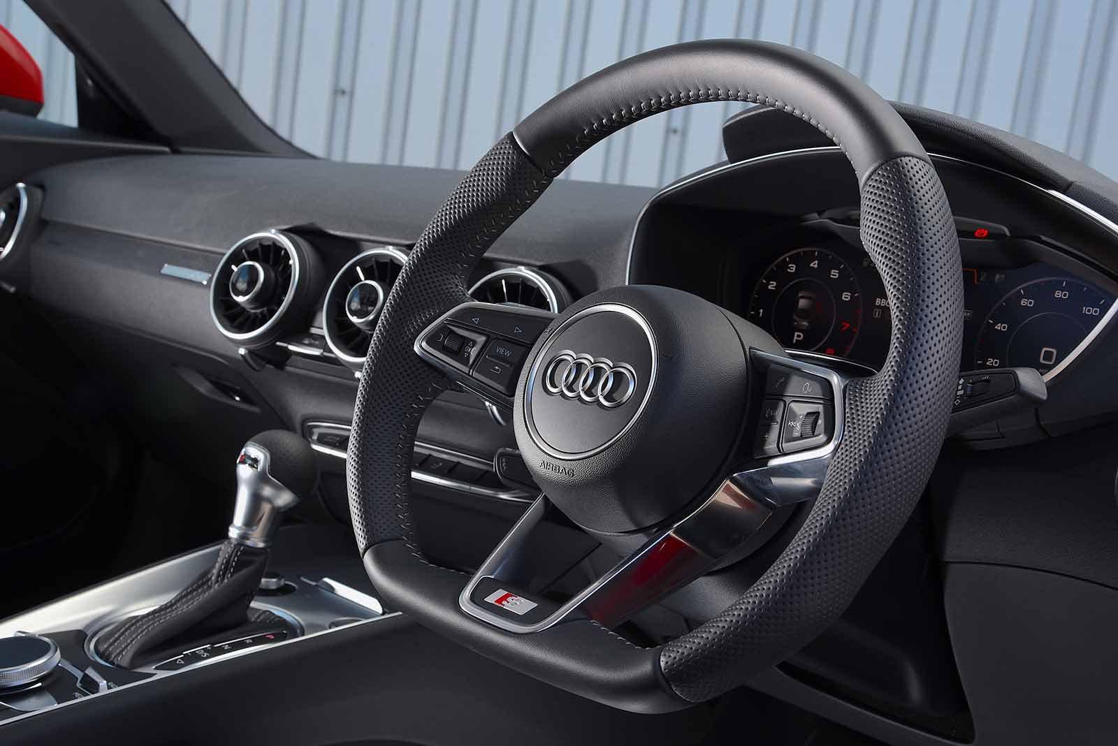 Audi TT Coupe 2019 RHD dashboard detail