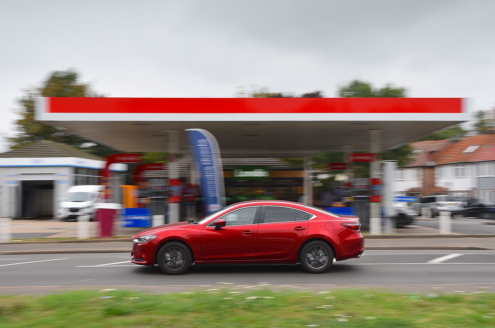 Mazda 6 long-term review petrol station