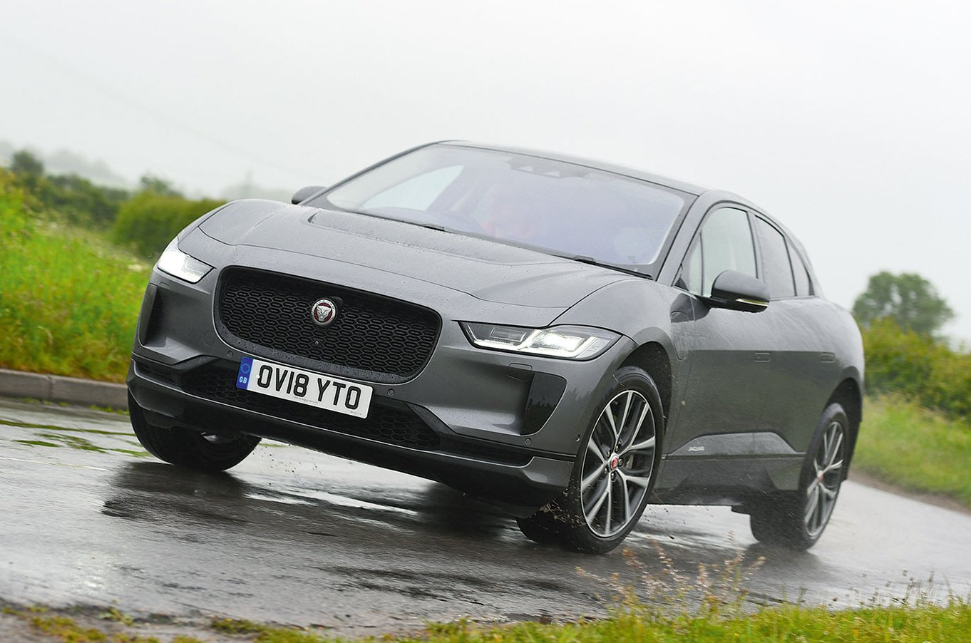 Grey Jaguar I-Pace front