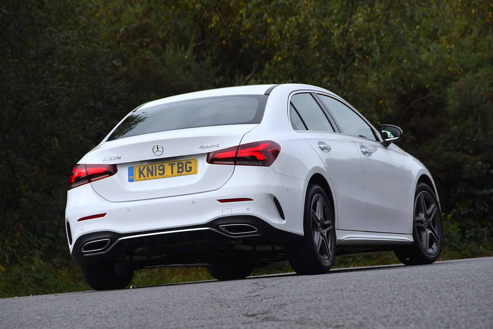 Mercedes A Class Saloon 2019 rear cornering