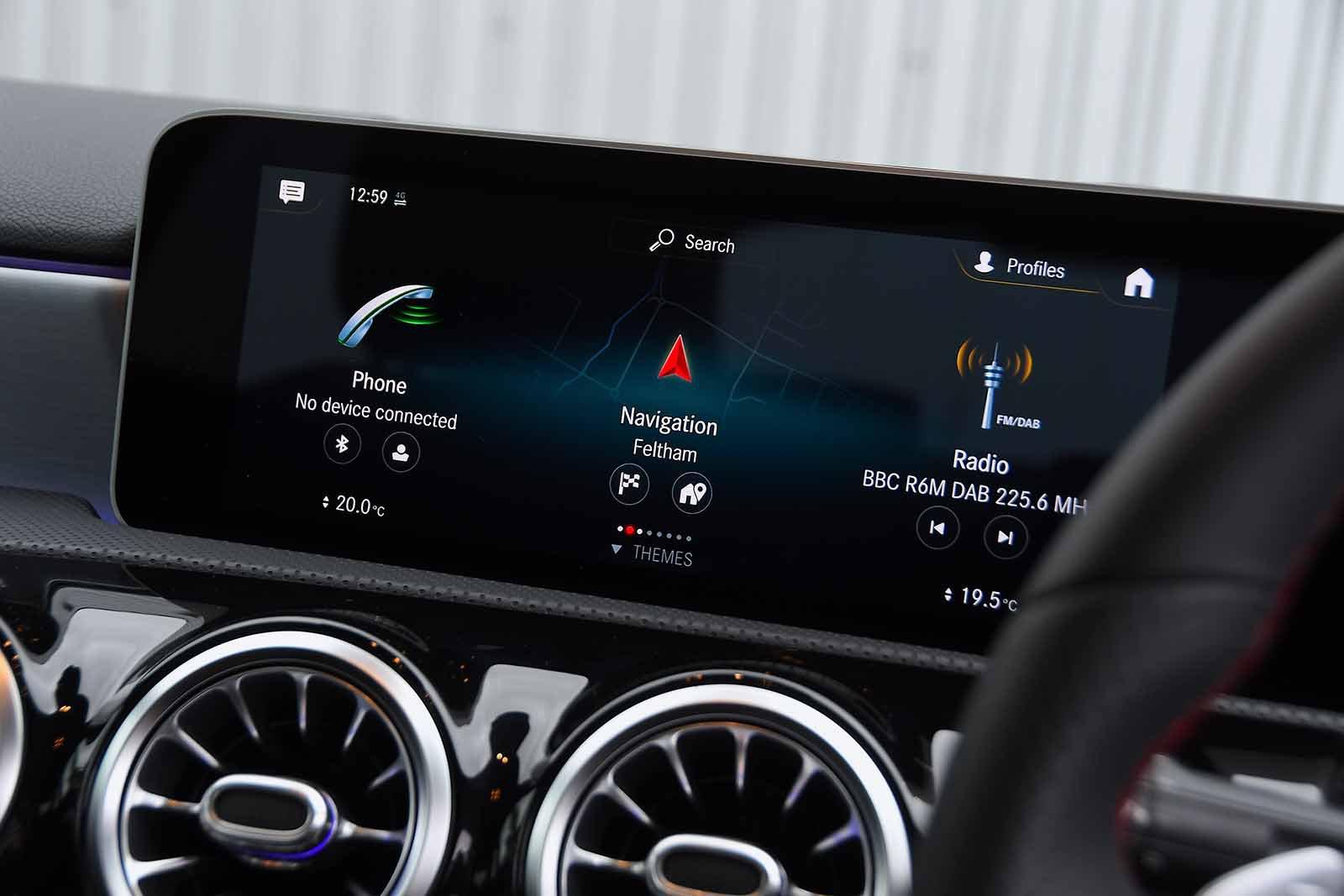 Mercedes A Class Saloon 2019 RHD infotainment