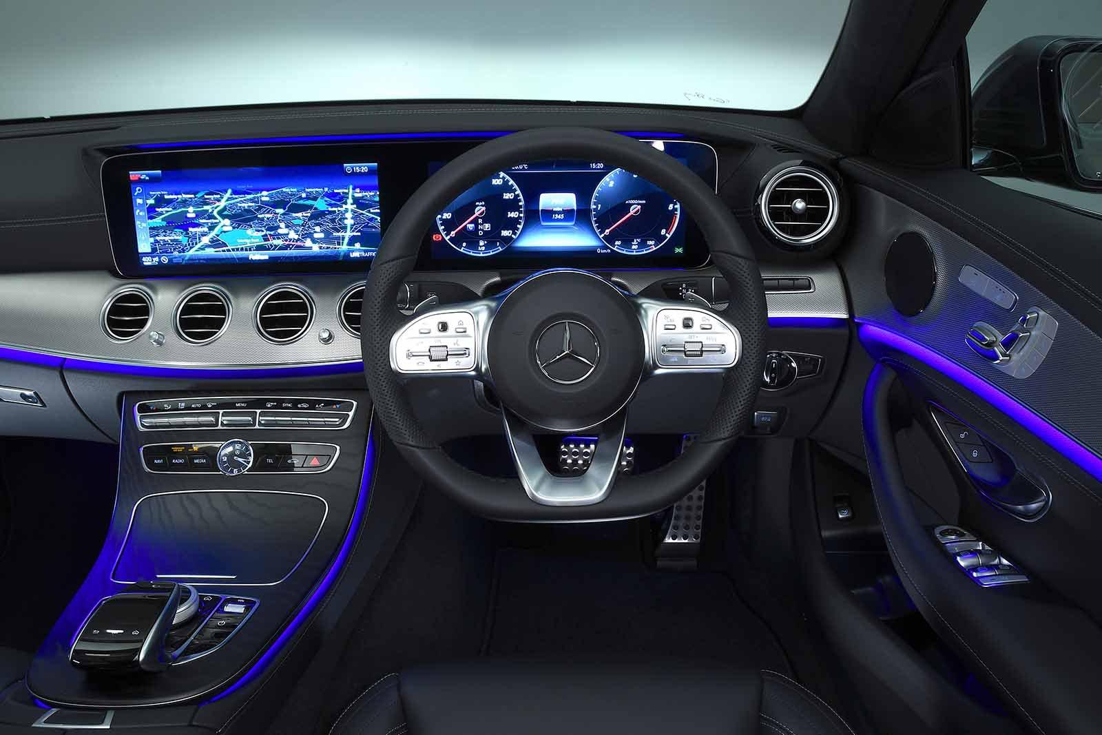 Mercedes-Benz 2019 E-Class saloon RHD dashboard