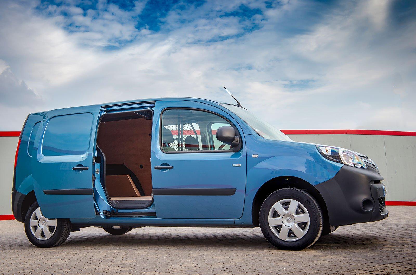 Renault Kangoo ZE with panel door open