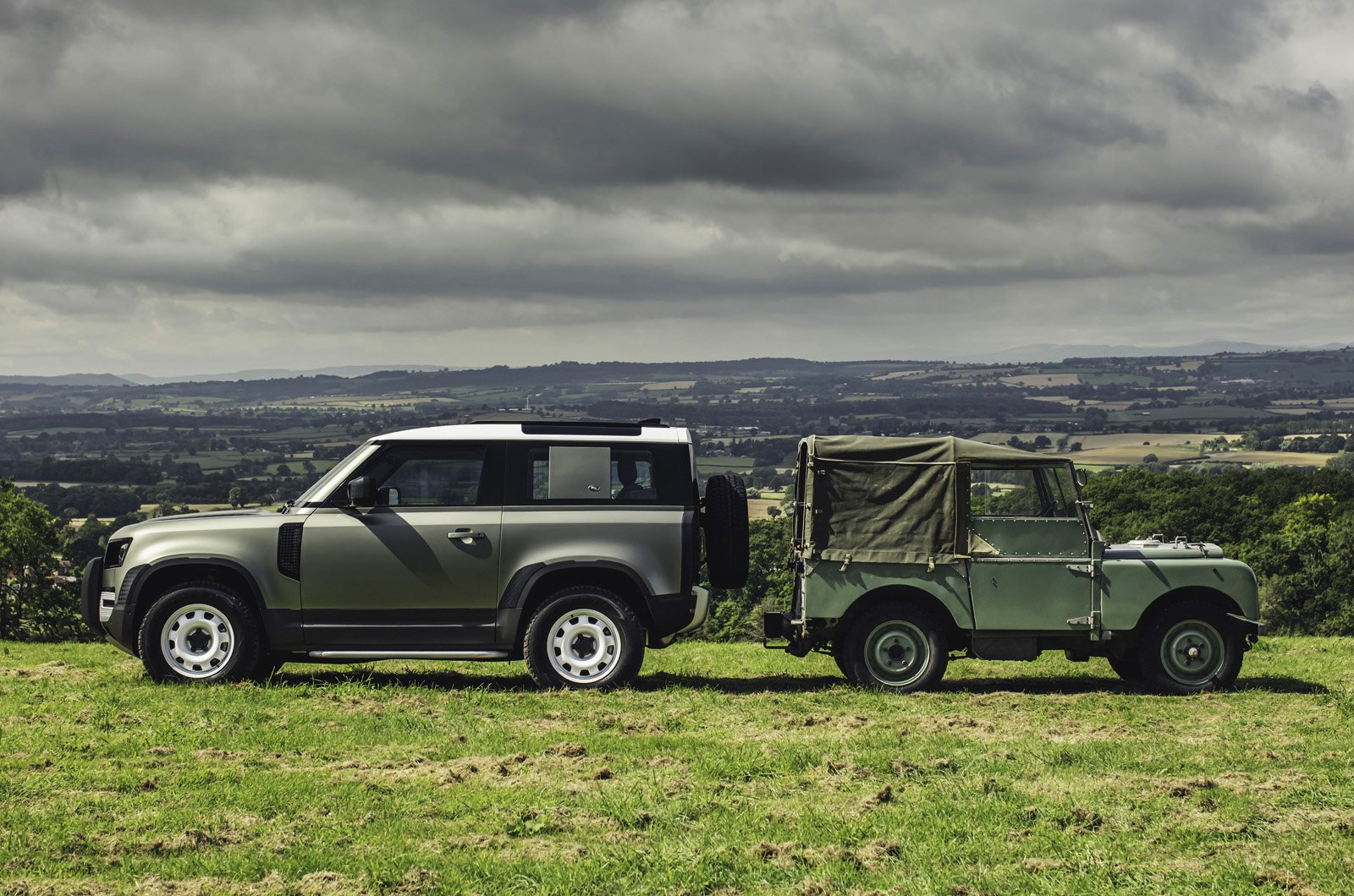 Land Rover Defender new and old