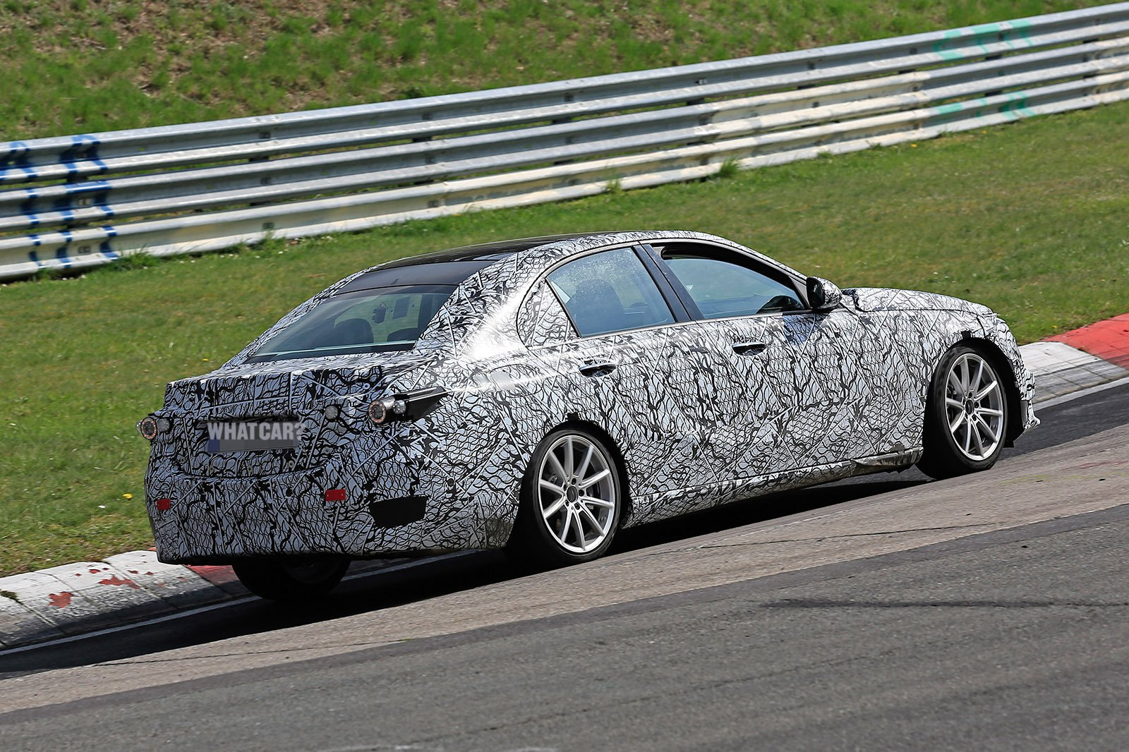2021 Mercedes C-Class rear spy shot