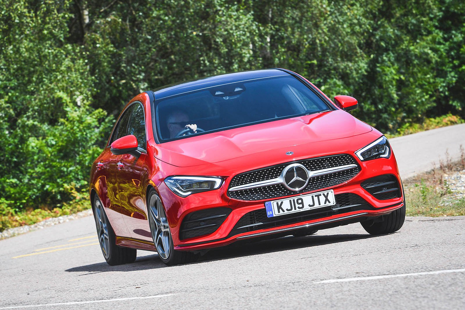 Mercedes CLA driving