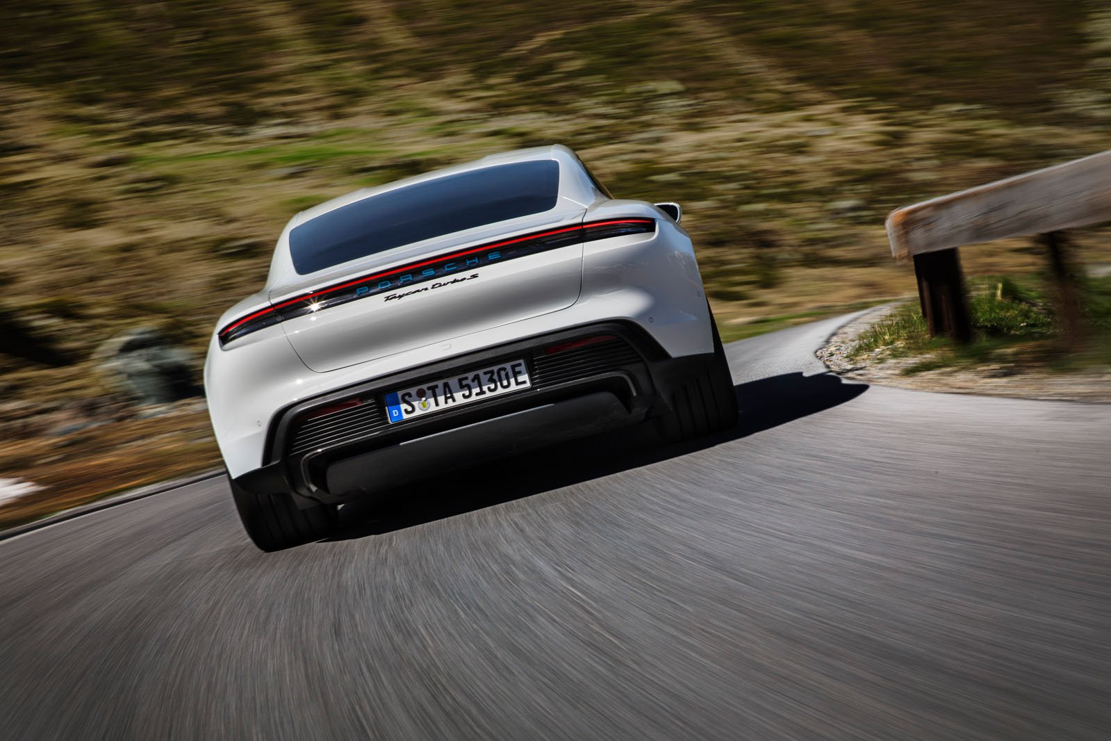 2020 Porsche Taycan rear