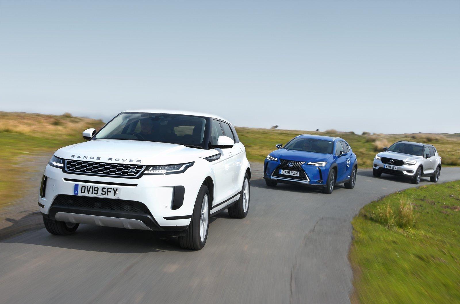 Range Rover Evoque vs Lexus UX vs Volvo XC40