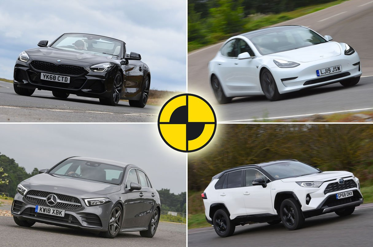 BMW Z4, Mercedes A-Class, Toyota RAV4, Tesla Model 3