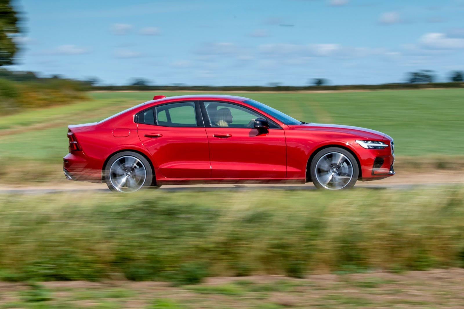 2019 volvo s60 t8 red side profile red