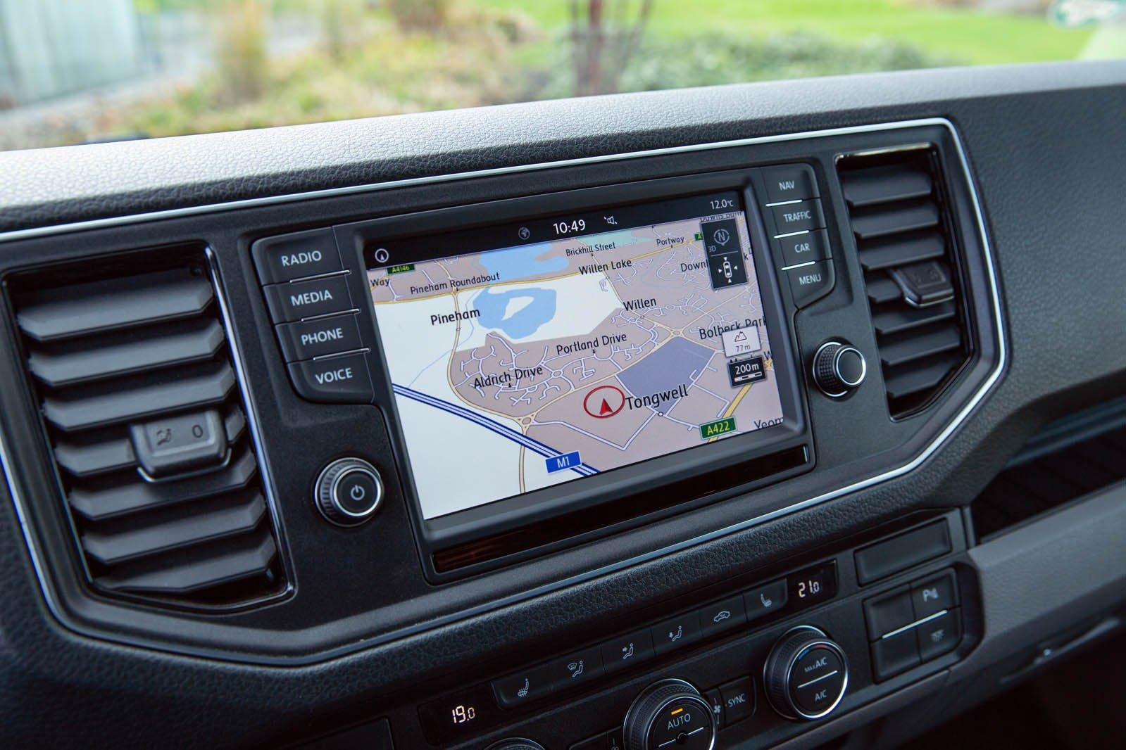 Volkswagen e-Crafter infotainment screen