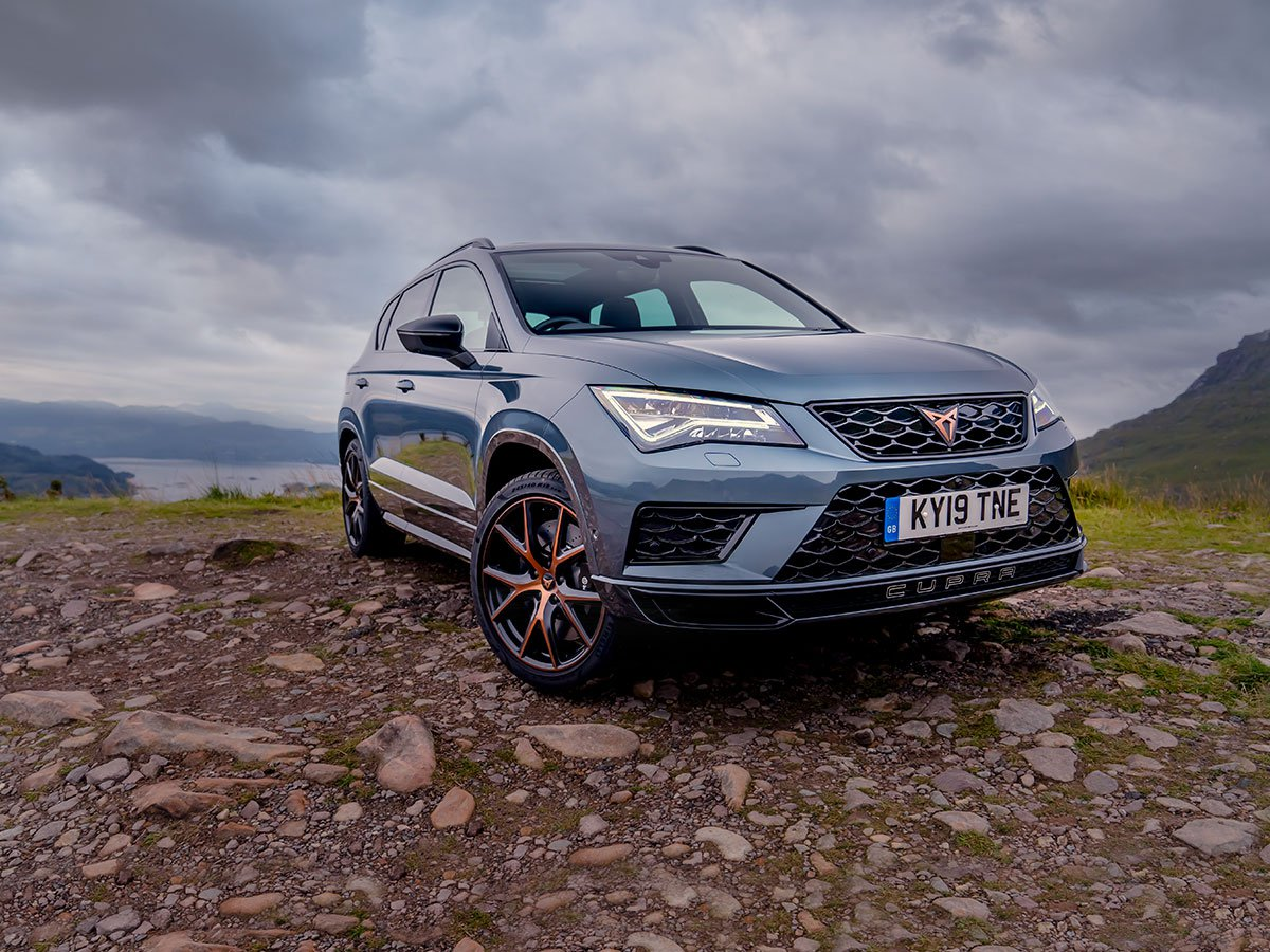The Scottish Highlands provided the perfect backdrop and demanding roads for the CUPRA Ateca