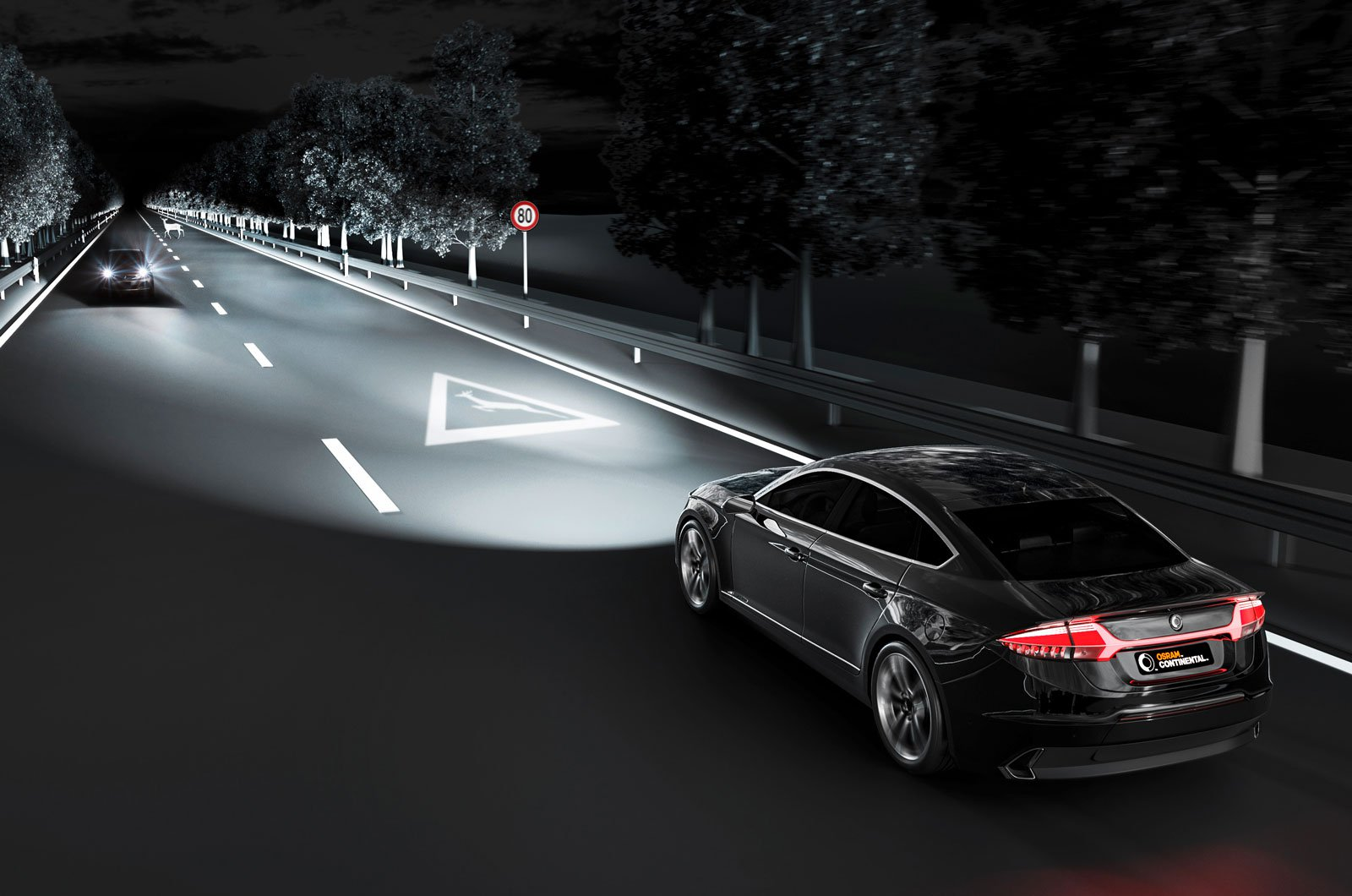 Intelligent future headlights at night