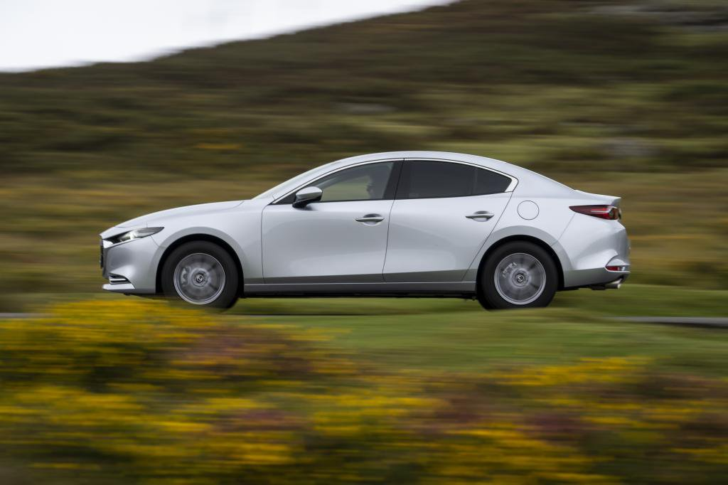 Mazda 3 Saloon driving