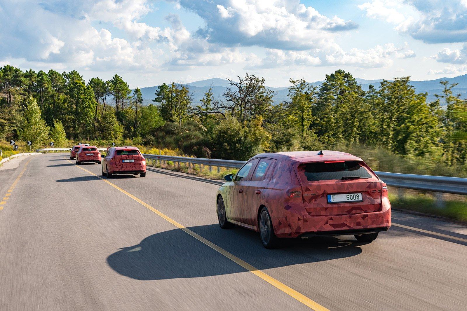 2020 Skoda Octavia covered convoy