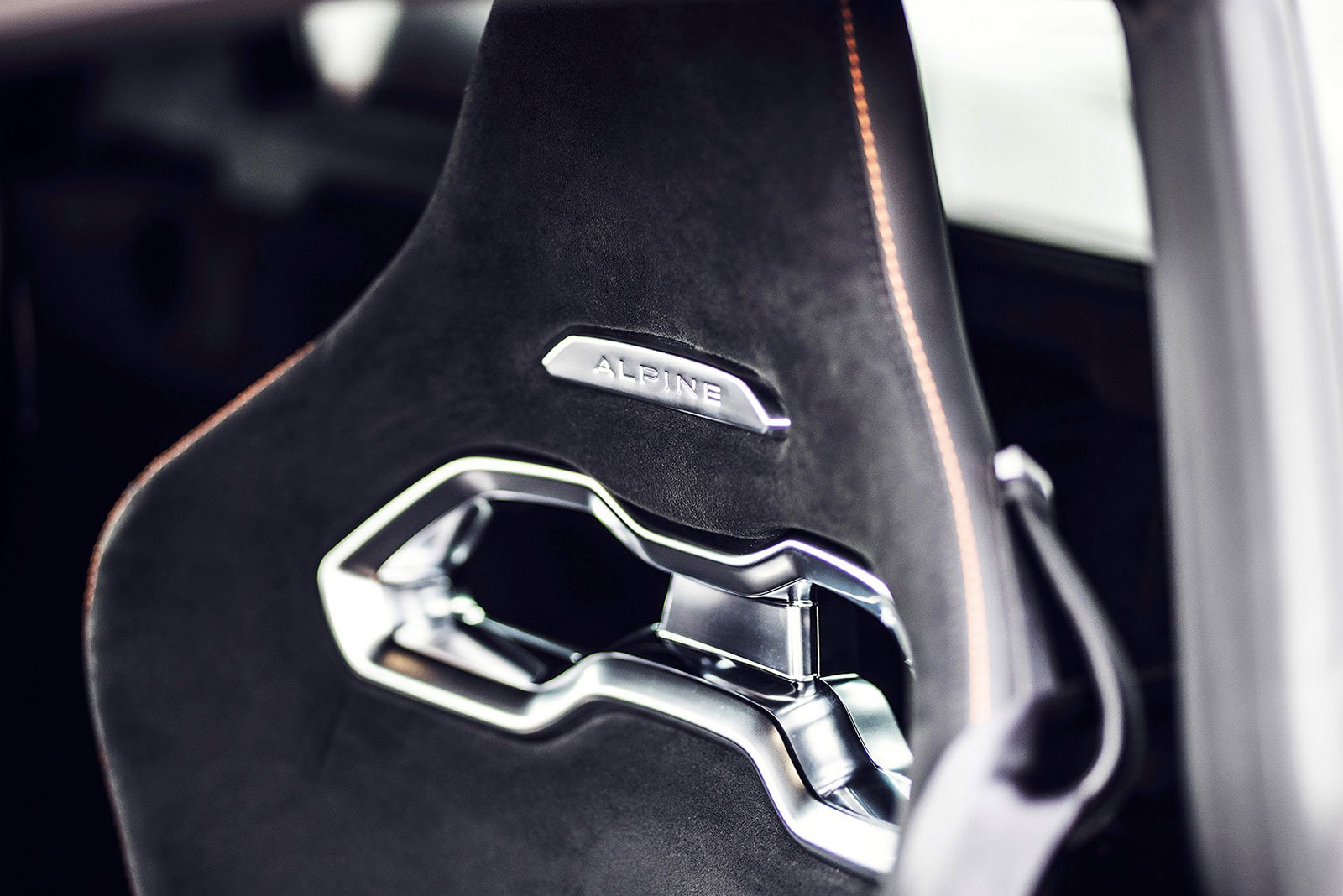 Alpine A110 S 2019 LHD front seats detail