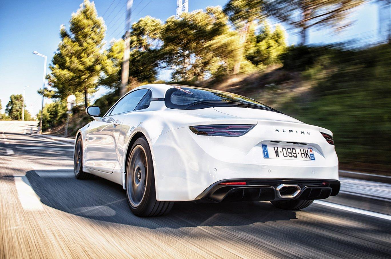 2019 Alpine A110S rear three-quarters driving