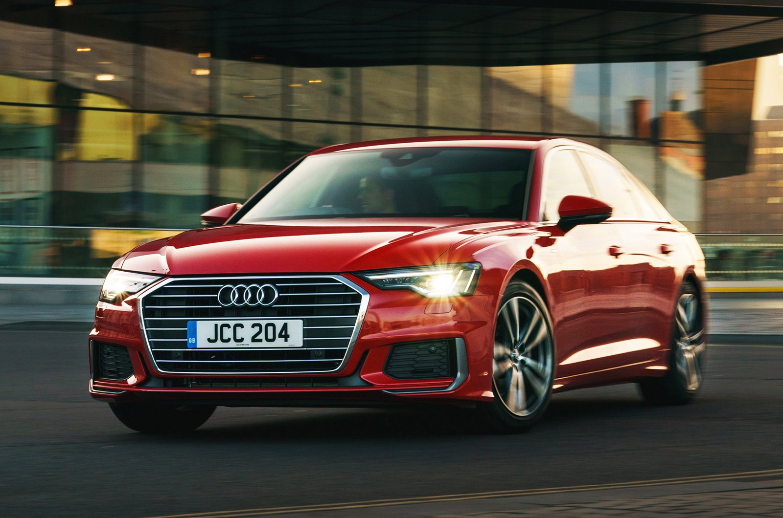Audi A6 saloon front - red