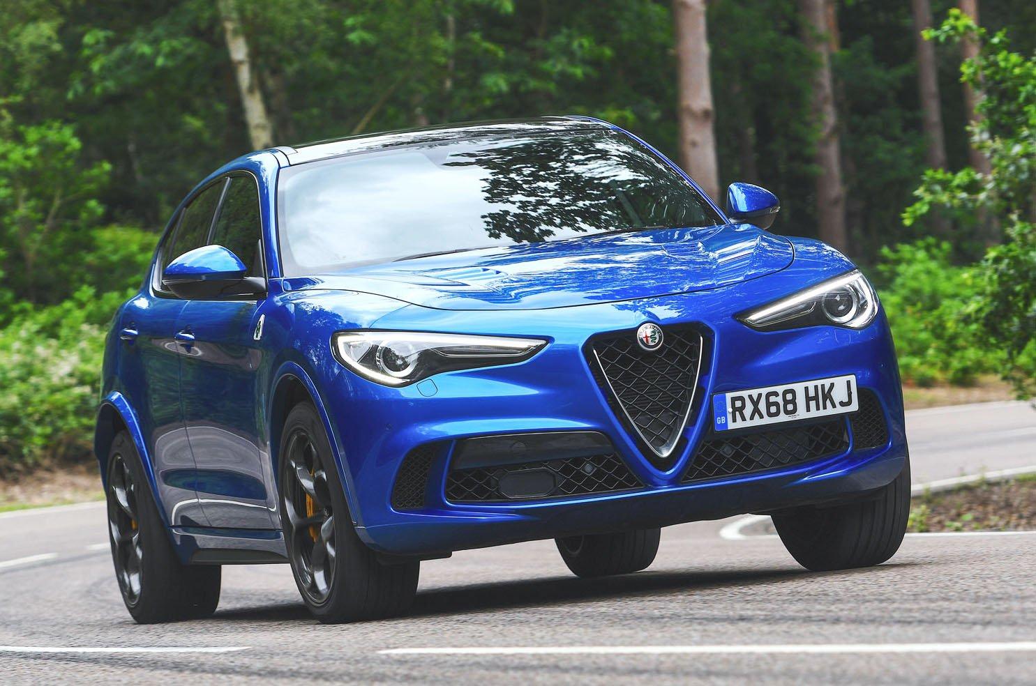 Alfa Romeo Stelvio Quadrifoglio front - blue