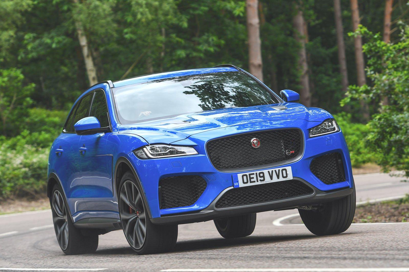 Jaguar F-Pace SVR driving