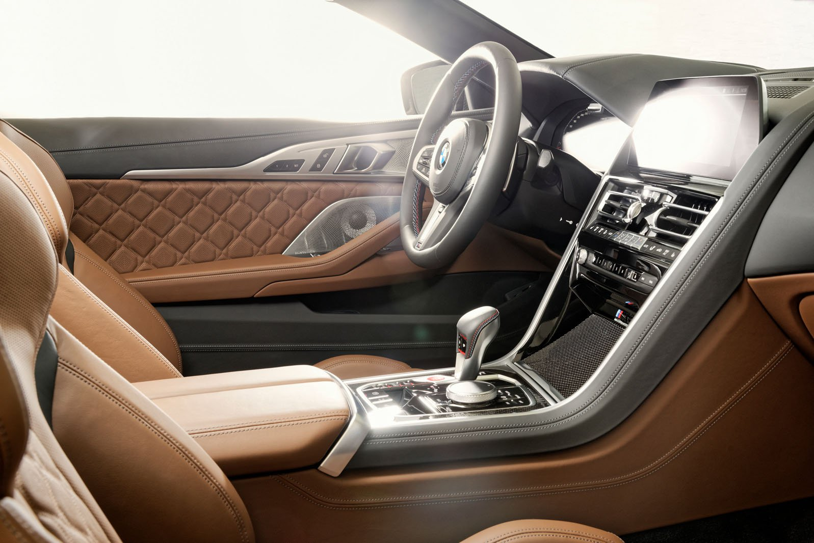 BMW M8 Convertible 2019 LHD front seats
