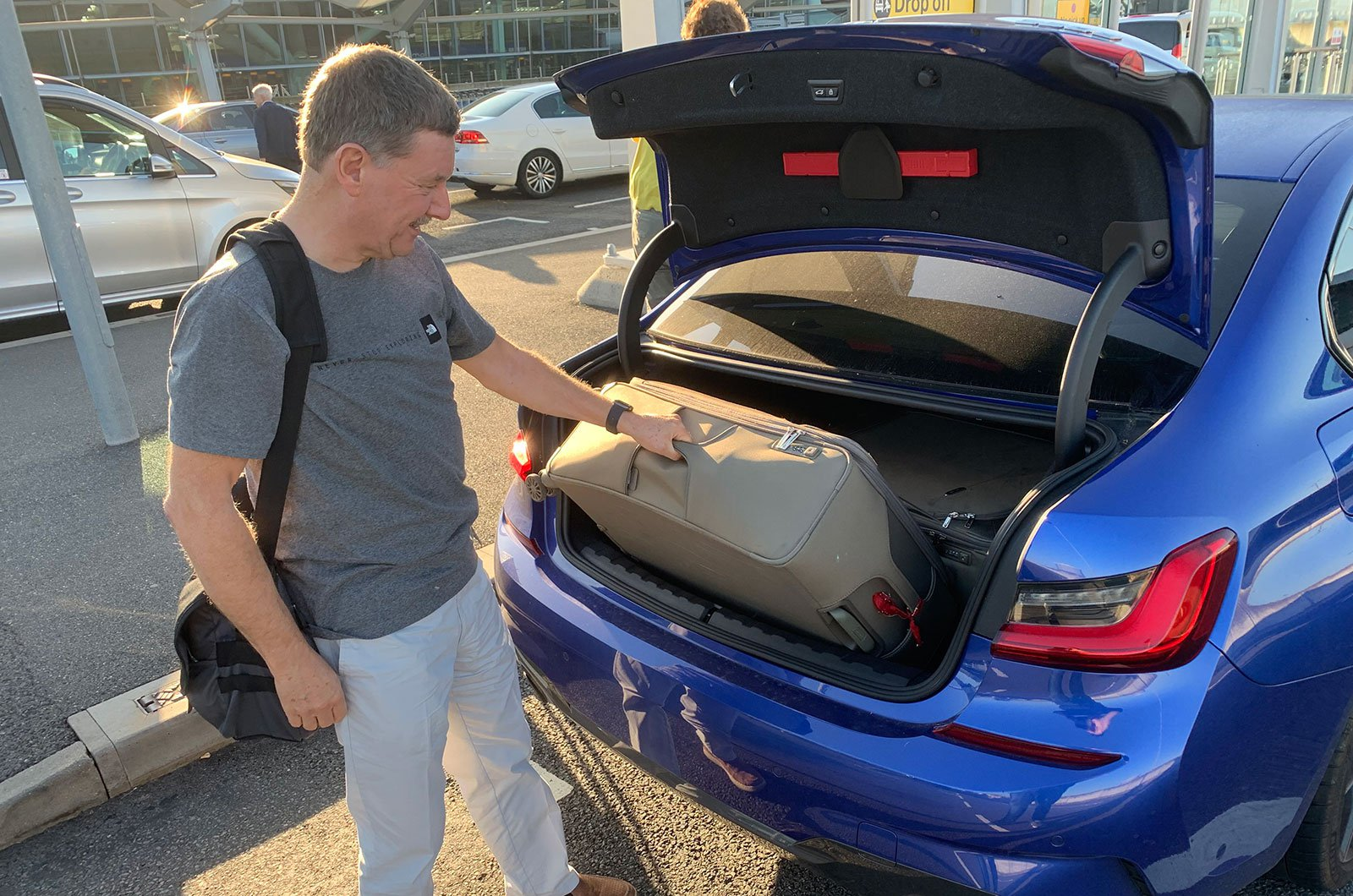 BMW 3 Series boot with suitcases