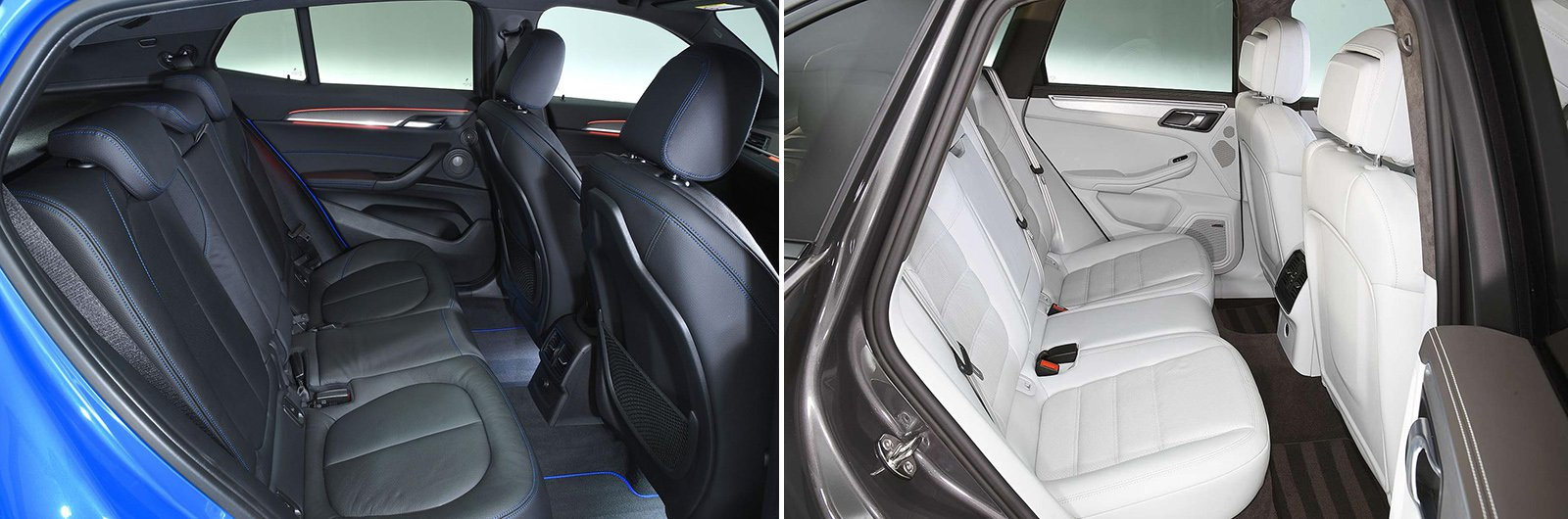 New BMW X2 vs used Porsche Macan – rear seat
