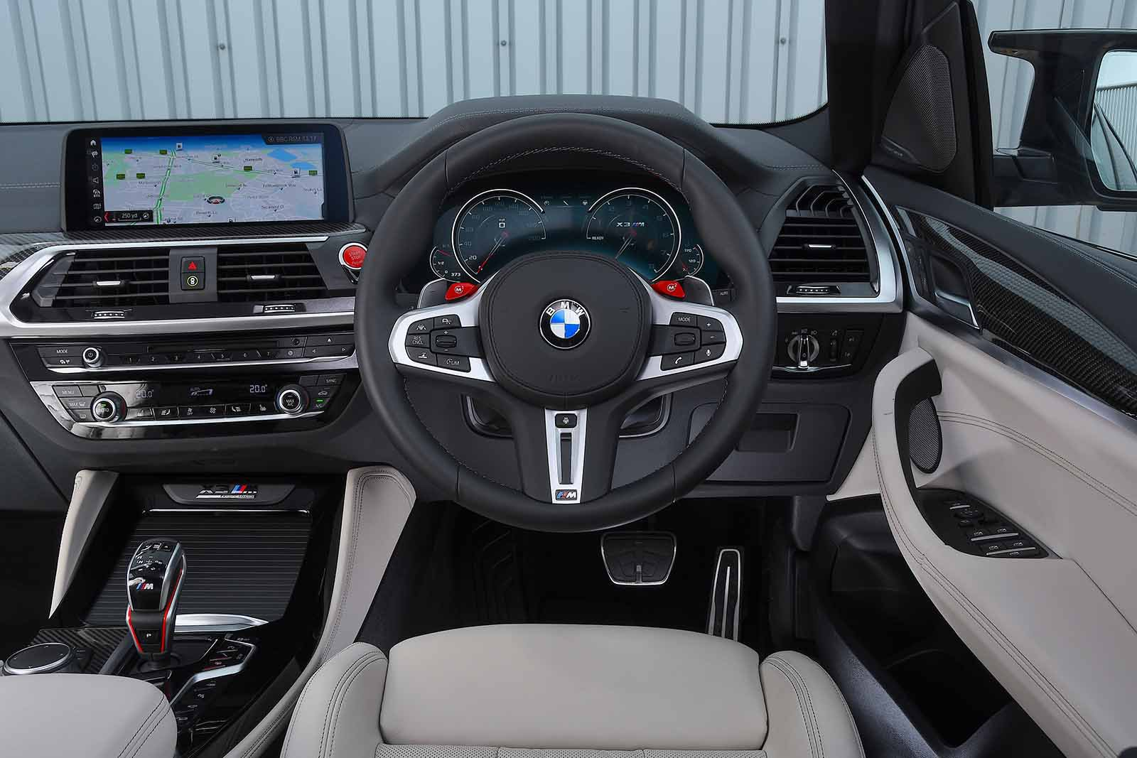 BMW X3 M 2019 RHD dashboard