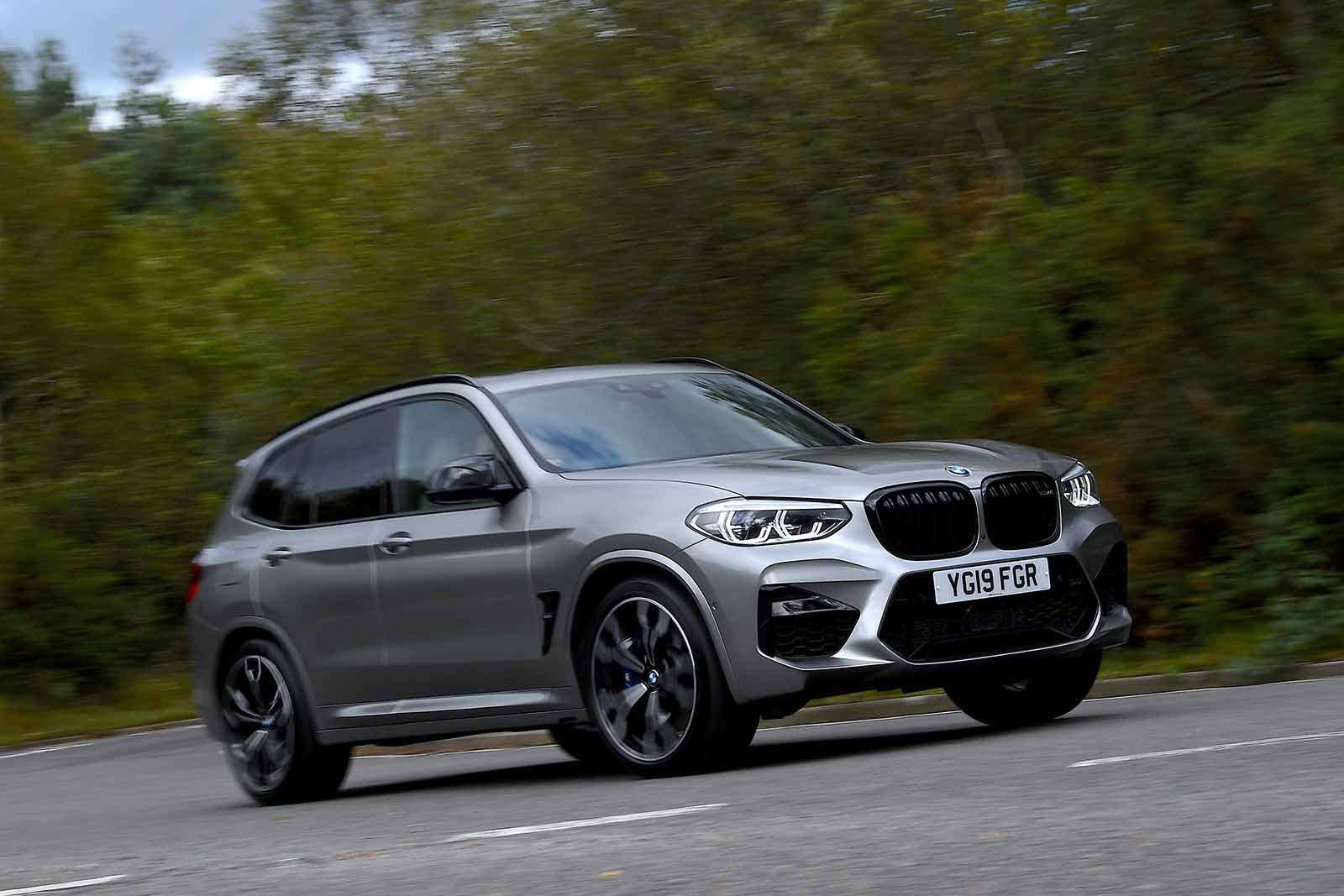 BMW X3 M 2019 RHD front right tracking