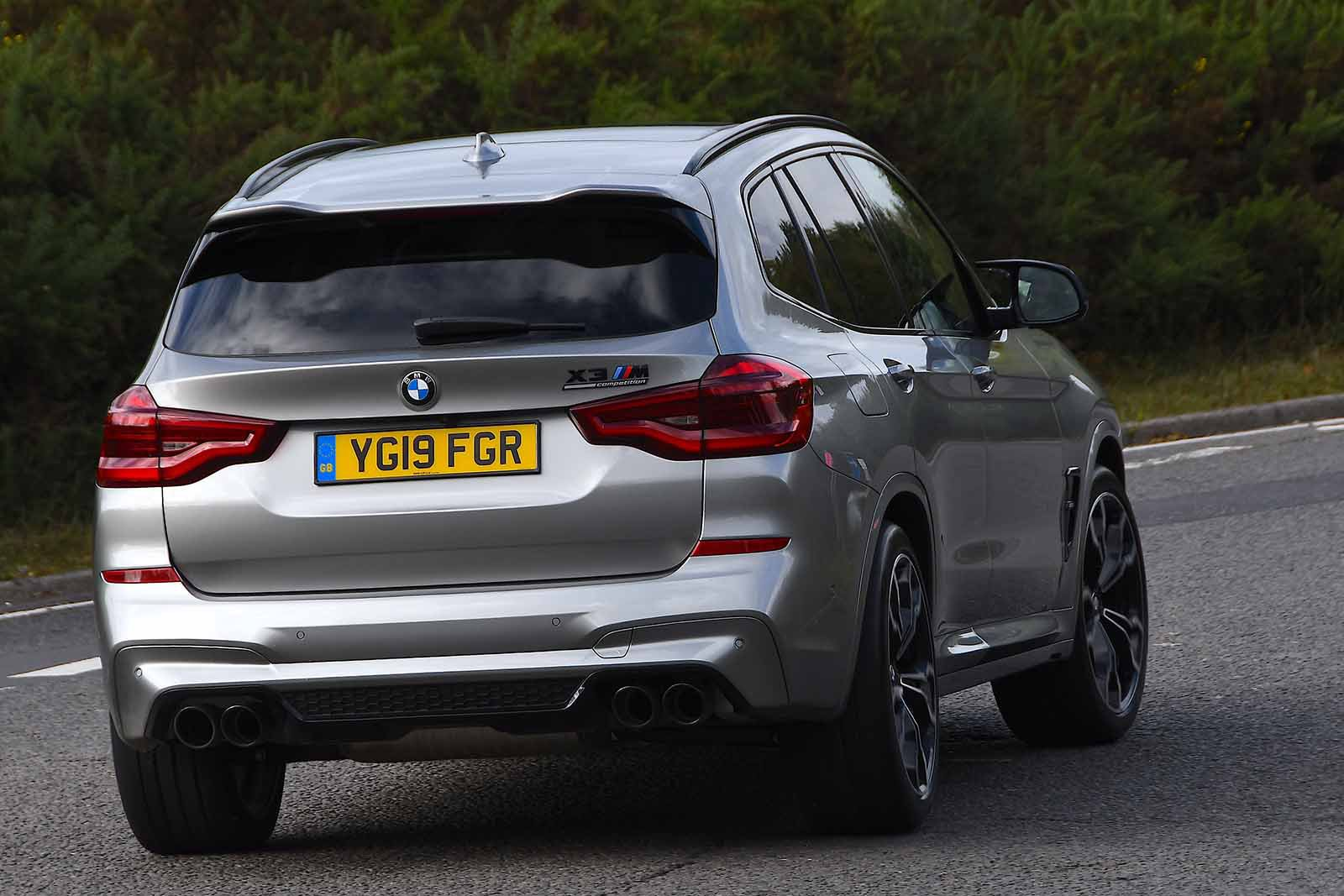 BMW X3 M 2019 rear right cornering