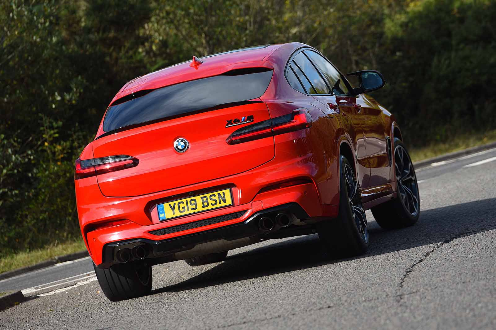 BMW X4 M Competition 2019 RHD rear right cornering